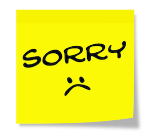 Sorry Sticker  Keith Bell 123RF